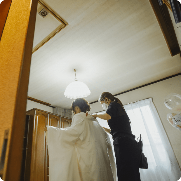 自宅婚写真3