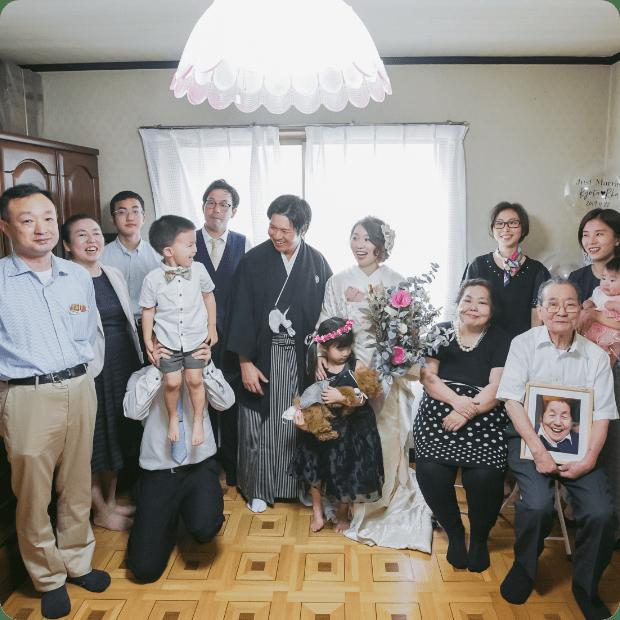自宅婚写真1